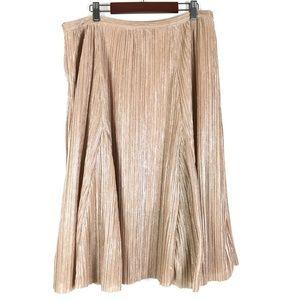Anthropologie Maeve Ambra Pink Metallic Skirt